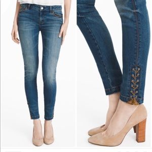 WHBM | The Skimmer Skinny Jeans Tie Up Ankle 00